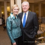 Peggy Barbier and Carl Barbier atthe 2015  Woodlands Conservancy Wild Wine Dinner (Josh Brasted Photo).