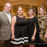 Dr. James Crouch, Kristina Crouch, Dreda Smith, and Sarah Chandler at the 2015 Woodlands Conservancy Wild Wine Dinner (Josh Brasted Photo).