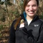 Volunteer with Orange Crowned Warbler